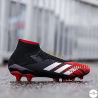 Sepatu Bola Adidas Predator Mutator 20.1 FG Black Red Premium Original