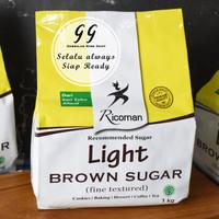 Ricoman LIGHT BROWN SUGAR 1 KG Fine Textured Gula Jawa Gula Merah Tebu