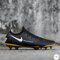Sepatu Bola Nike Phantom GT Elite Tech Craft FG Black Gold White