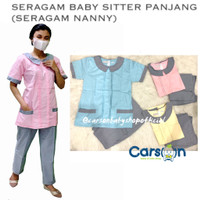 Baju Seragam Suster Baju Baby Sitter Baju Suster Seragam Nanny Panjang