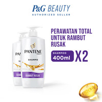 TWIN PACK Pantene Shampoo Total Damage Care 400 ml