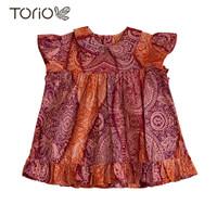 TORIO Smart Casual Pink Girl Batik - Baju Atasan Anak Perempuan