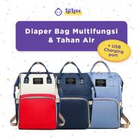 Tas Anello Ransel Perlengkapan Bayi / Baby Diaper Bag + USB Charging