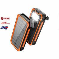 Power Bank Solar Tenaga Surya 2 USB Port 20000mAh-ES100 - Orange-PROMO