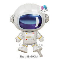 Balon Foil Astronaut / Balon Astronot Robot Luar Angkasa Mini