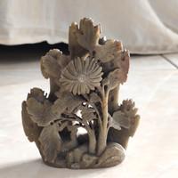 Patung Pajangan Marmer Bunga Italy 1985 T 11cm / Barang Antik Tua Kuno