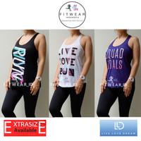 Tanktop Olahraga Wanita (Fitness,Zumba,Yoga) SPLIT RACERBACK LLD