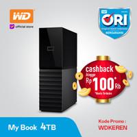 WD My Book 4TB Black Hitam - HD HDD Hardisk Eksternal External 3.5