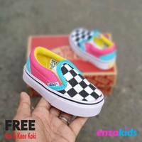 Sepatu Bayi Vans Baby Slip On Catur Multi Color Usia 0 1 2 Tahun