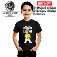 Kaos Baju Anak TAKESHI GOUDA GIANT FREDDY MERCURY ROCK STAR DORAEMON - XS