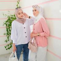 Atasan Wanita Busui Yoona Blouse Katun Rayon Baju Muslim Perempuan