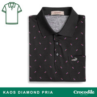 Crocodile DIAMOND 1681 Black - Baju Kaos Kerah Pria Men Polo Original