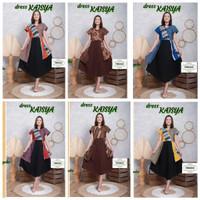 Dress Kimono Kaisya Batik Kekinian Modern Hits Baju Pesta Pergi Cantik