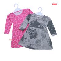 Dress Azizah 1-2 Tahun /Dres Anak Lengan Panjang Baju Harian Perempuan