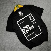 Baju Kaos Pria Distro Terbaru Murah Bomboogie Cotton Combed 30s