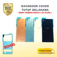 Backdoor Casing Tutup Belakang Cover Kaca ORI Sony Z4 Z3 Plus E6533 - Hitam