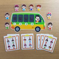 Busy Page - Penumpang Angkot (dengan magnet dan pouch)
