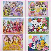 GROSIR PUZZLE JUMBO ANAK GIRLS/PEREMPUAN 31x23cm JIGSAW MAINAN EDUKASI