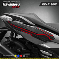 Hayaidesu FORZA Body Protector Rear Side Cover - Merah