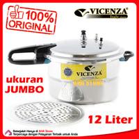 Vicenza Pressure Cooker 12 Liter - Panci Presto