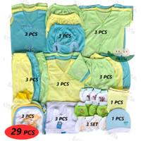 Paket Hemat Perlengkapan Baju Bayi Baru Lahir (New Born) POLOS WARNA 3