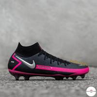 Sepatu Bola Nike Phantom GT Elite Dynamic Fit FG Black Pink White