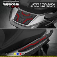 Hayaidesu FORZA Body Protector Behel & Upper Stop Lamp Cover - Merah