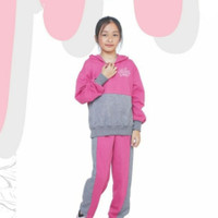 CJCMNP194 Baju Setelan Anak Perempuan Olahraga Hoodies Cantik Trendy