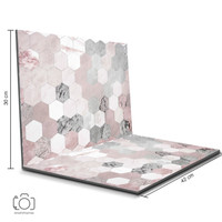 Alas Foto Lipat Hexagon Pink & Marmer 42x30cm /Background Foto (GL-04)