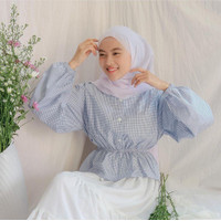 Baju Atasan Wanita | Belina Blouse | Katun Motif