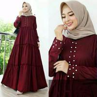 Gamis Wanita Dewasa Muslim Maxi Dress Baju Cewek Muslimah Syari Casual