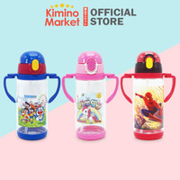 Botol Minum Sedotan Water Bottle Botol Air Lucu untuk Anak Portable - Biru