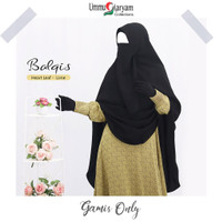 Gamis Balqis Heart Leaf Lime [GAMIS ONLY]   Gamis Syari Premium