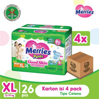 Merries Pants Good Skin Xl 26S Karton Isi 4