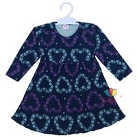 Dress Azizah 1-2 Tahun / Dres Anak Lengan Panjang Baju Harian Motif