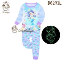 Baju Tidur Anak Mermaid Glow In The Dark ukuran 3-7tahun