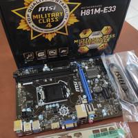 Motherboatd MSI H81M-E33 Socket 1150