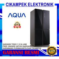 AQUA AQR-IG525AM Kulkas SIDE BY SIDE Inverter IG525AM AQR-IG525