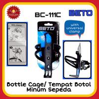 BETO BC-111C Bottle Cage/ Tempat Botol Minum Sepeda Dengan Clamp