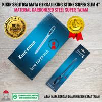 Kikir Asah Mata Gergaji Kayu Besi Segitiga 4 inch/ File Saw Rubber