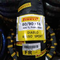 Ban motor matic Pirelli Diablo Rosso Sport 80/90-14 ring 14 vario beat