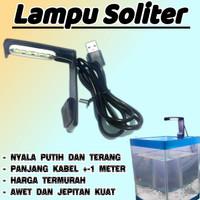 lampu led aquarium soliter cupang