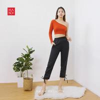 HanaFashion - Selly T-Shirt Crop Top - Kaos Atasan Wanita - TS214
