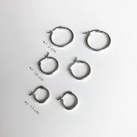 Meree - Anting Basic Hoop Fashion Wanita Sterling Silver