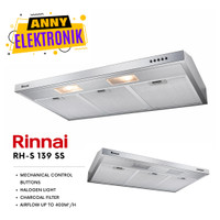 Penghisap Asap Kompor Dapur Cooker Hood Rinnai RH S 139 SS / RH S139