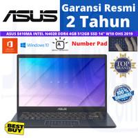 NOTEBOOK ASUS E410MA INTEL N4020 DDR4 4GB 512GB SSD 14 FHD W10+OHS