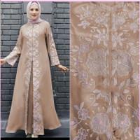 Gamis / Maxi / Baju Pesta Wanita Muslim Mulan Full Bordir Mewah HQ