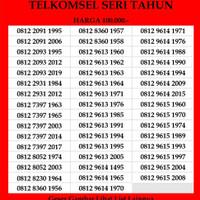 Nomer Cantik Seri Tahun Simpati 4G TLE Telkomsel Kartu Perdana as loop