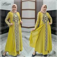 Gamis Wanita Syari Muslim Maxi Dress Baju Muslimah Cewek Dewasa Casual