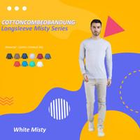 Kaos Polos Lengan Panjang White Misty Cotton Combed 30s - S
